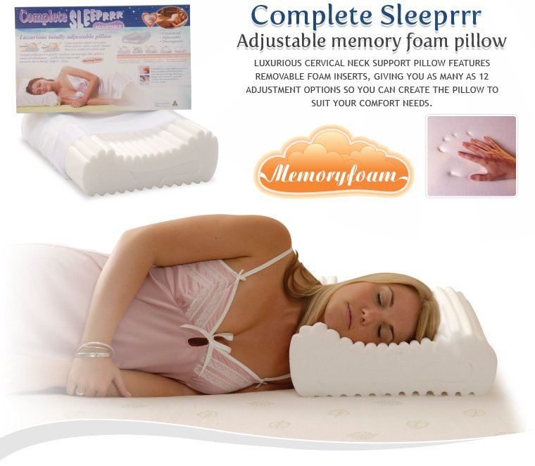 sleeprrr memory foam pillow